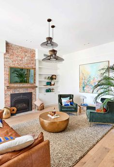 Andy and Deb have transformed House 3 on The Block 2019 into a contemporary coastal chic abode. Take the grand tour. Formal Living Rooms, Living Room Decor, Interior Design Inspiration, Room Inspiration, Timber Battens, Green Furniture, Kitchen Layout, Living Area, Grand Tour