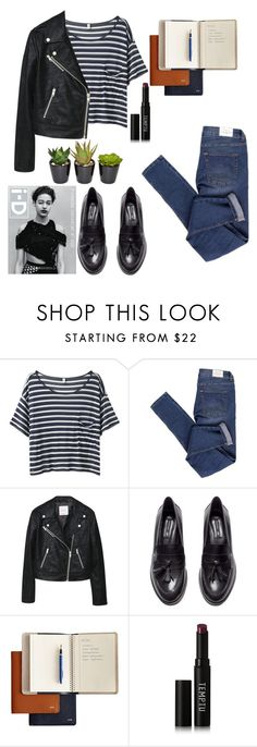 """""""creating"""" by jennifer-dubert on Polyvore featuring R13, Cheap Monday, MANGO, H&M, Temptu and The French Bee"""