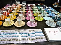 Meet Marie Daage, the charming collection of hand painted French limoges, offering an almost limitless variety of colors and patterns. French Lifestyle, Lifestyle Blog, Table Top Design, China Cups And Saucers, Desk Set, Bowls, Espresso Cups, Places To Eat, Afternoon Tea