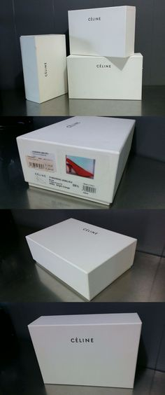 Gift Boxes 102380: Authentic Celine White Empty Shoe Bag Box 11 X 7 X 4 Storage Or Presentation -> BUY IT NOW ONLY: $32 on eBay!