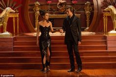 Mila Kunis stuns in leather gown in new stills for Jupiter Ascending. The dress! The shoes!