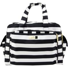 Ju-Ju-Be Legacy Be Prepared Messenger Bagsssenger ($200) ❤ liked on Polyvore featuring bags, messenger bags, black, diaper bags, striped diaper bag, pocket bag, ju ju be, ju ju be bag and stripe messenger bag