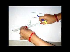Princess cut Blouse Measurement/Drafting/Pattern/Layout/Cutting/Stitching part 2 of 10 hindi - YouTube