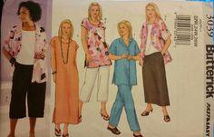 Butterick Pattern 3039 sizes 22W-26W Women's/Women's Petite Shirt, Top, Tunic,  #Butterick