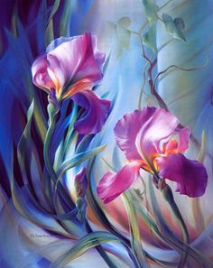Diamond Painting Cross-Stitch Diy Kit Diamond Embroidery Christmas Sets For Embroidery Mosaic iris flower Picture Art Floral, Floral Wall, Wonderful Flowers, Inspiration Art, Art Design, Flower Art, Painting & Drawing, Iris Painting, Amazing Art
