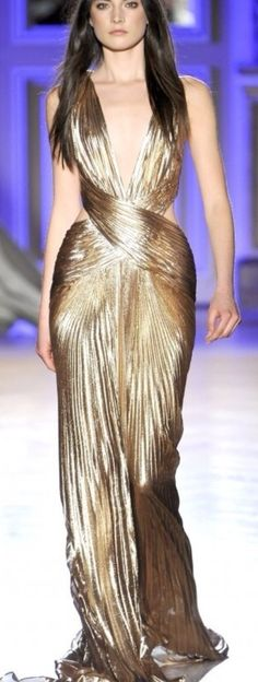 Style Dress Is An Amazing Colour And I Love The Use Of Lots Knife Pleats Flow Throughout Zuhair Murad Spring 2012 Haute Couture
