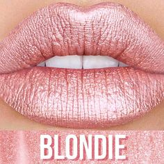 Introducing #METALLICVELVETINES ✨✨✨ Say hello to BLONDIE, the glowing rose gold liquid lip! Pair this #liplighter with a nude liner or wear over your favorite matte lipstick to give your pout a golden glow!  Love it? Sign up on limecrime.com/velvetines to be notified when this shade goes live! #limecrime