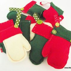 During the run up to Christmas, I will be giving away a free Santa mitten with every purchase xxx