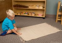 Why do children in a CGS atrium or other Montessori environment use a work mat?  This blog post from the NAMC Montessori Teachers website explains the importance of the mat as a means of providing the children freedom within limits and its role in defining the work space of each individual child.