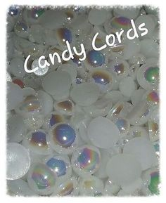 Flat Back AB Mixed Size Pearls - Mixed pack sizes 3mm-8mm Cards Deco Den 200