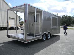 NEW 8.5x20 8.5 X 20 Enclosed Concession Stand Food Vending BBQ Porch Trailer #DiamondCargo