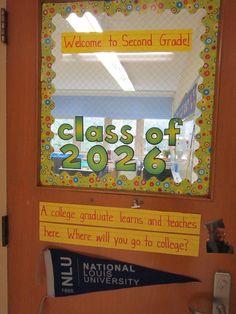 class door, encouraging college grads