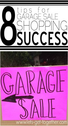 8 Tips for Garage Sale Shopping Success-tips for finding what you want at great prices. #thrifting #garagesale