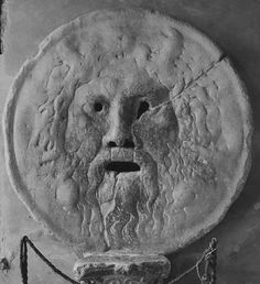 "bella102:    ""On the bank of the Tiber River, in the ancient centre of Rome is the infamous Bocca della Verita, or the Mouth of Truth."