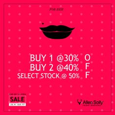 A special sale for the special lady in your life. Shop at the Allen Solly End of Season Sale.