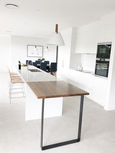 We offer the best quality solid timber benchtops on the Sunshine Coast. If you are building or renovating, contact us for a free quote! Custom made to order Timber Benchtop, Modern Scandinavian Interior, Kitchen Benchtops, Breakfast Bar Kitchen, Furniture Care, Building A New Home, Sunshine Coast, Kitchen Reno, Beautiful Kitchens