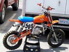 XR75 tank and forks with pro mod swinger. Think i'm in love