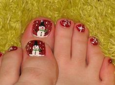 christmas toenails