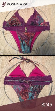 NWOT beach bunny 🐰 medium set New without tags beach Bunny lady lace style. I forget the name of this suit. The material is GORGEOUS! Old school rare beach Bunny from 2009 collection I believe. So cute! Medium set. No flaws. Beach Bunny Swim Bikinis