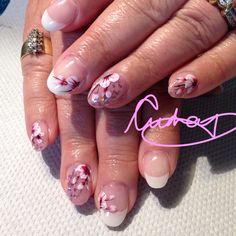 Cherry blossom nails