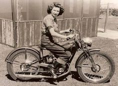 Girl-on-a-motorcycle...