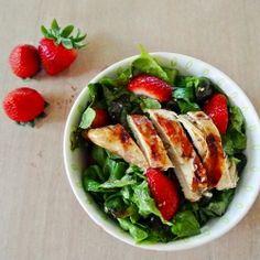 Strawberry Chicken Salad with Honey Lime Vinaigrette