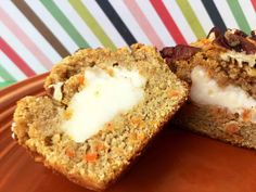 Low Carb Carrot Muffins with Cream Cheese Filling Recipe