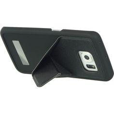 DW Samsung Galaxy S6 Edge Hybrid Flip Stand Case - Black