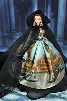 FW 2013 Haute Couture Dolce & Gabbana. OOAK Barbie doll by Magia 2000 was a Christmas gift for the talented Stefano Gabbana.The doll is wearing the miniature copy of the famous D&G FW '13 Alta Moda gown.