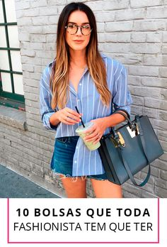 Look short jeans com camisa Style Outfits, Short Outfits, Cool Outfits, Summer Outfits, Casual Outfits, Fashion Outfits, Jeans Fashion, Look Short Jeans, Spring Fashion Trends
