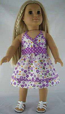 Purple Mixed Print Sun Dress made for American Girl Doll Clothes ADORABLE!