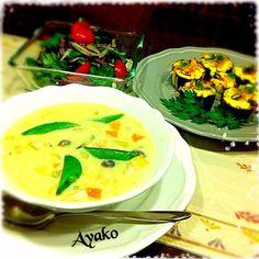 ホワイトソースも手作り♪ 本格的シチューです(*^^*) とっても美味しかったです - 113件のもぐもぐ - サーモンときのこのクリームシチュー、茄子マヨ♪、ひじきと紫玉ねぎのサラダ by ayako1015