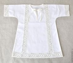 Baptismal shirt with lace inserts.reduce pattern size and make dress for dolls? Stylish Dresses For Girls, Frocks For Girls, Dresses Kids Girl, Kids Outfits Girls, Cute Outfits For Kids, Baby Girl Dress Design, Girls Frock Design, Baby Frocks Designs, Kids Frocks Design