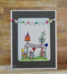 Celebrate Card by Shelly Mercado #Cardmaking, #Birthday, #PocketsandPages, #WishesonaWire, #TE, #ShareJoy
