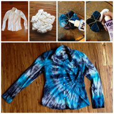 Tie-Dyed Dress Shirt Michael Kors Inspired with Rit Dye