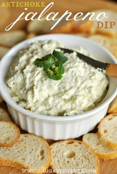 Artichoke Jalapeno Dip: copycat Costco dip, spicy and delish! #copycat #dip Artichoke Jalapeno Dip, Canned Artichoke Hearts, Artichoke Dip, Artichoke Parmesan Dip, Jalapeno Cream Cheese Dip, Yummy Appetizers, Appetizer Dips, Appetizer Recipes, Guacamole