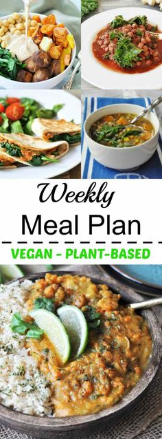 Vegan weekly meal pl