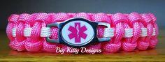 EMT First Responder Pink Paracord Bracelet w/Side Release Buckle  $16.95