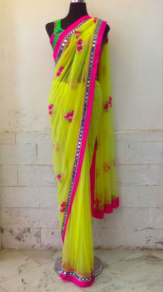 arpita mehta designer saree and lehenga collection comprise of contemporary ethnic as well as fusion ensembles largely focussing gota work and mirror work. Indian Look, Indian Ethnic Wear, Indian Dresses, Indian Outfits, Indian Clothes, Ethnic Fashion, Asian Fashion, Women's Fashion, Anarkali