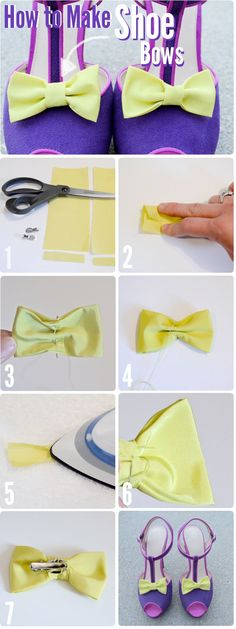 Shoe bows: make your old shoes look new again!