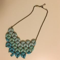 Three shade blue statement necklace! Statement necklace. Like new. Jewelry Necklaces