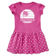 c3fd6a78137664 Avila Beach California palm tree Infant Dress for vacation travel trips or  spring break  AvilaBeach