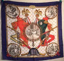 "HERMES ""NAPOLEON"" Tuch carre foulard scarf silk soie 90 Philippe Ledoux JACQUARD"