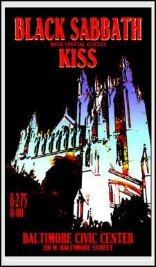 black sabbath concert posters | Black Sabbath Concert Poster