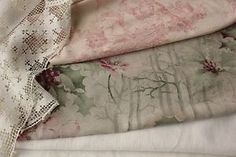 Antique-Vintage-French-fabrics-linen-lace-printed-cotton-sewing-PROJECT-BUNDLE
