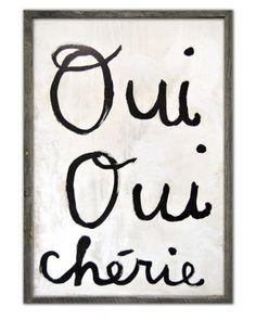 Oui Oui Chrie Print