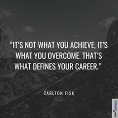 It's not what you achieve, it's what you overcome. That's what defines your career. Tuesday Motivation, Career Goals, Quote Of The Day, Technology, Education, Life, Tech, Tecnologia, Onderwijs
