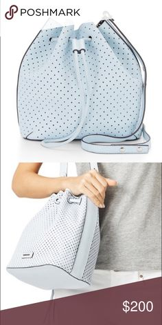 Rebecca Minkoff Handbag Rebecca Minkoff Ice Blue Bucket Bag. The color is fantastic, the ice blue color really pops and is guaranteed to turns a few heads. Rebecca Minkoff Bags Shoulder Bags