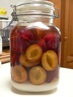 Posts about homemade plum liqueur written by Celia @ Fig Jam and Lime Cordial Crab Apple Recipes, Plum Recipes, Vodka Recipes, Drinks Alcohol Recipes, Fruit Recipes, Yummy Drinks, Canning Recipes, Cocktail Recipes, Plum Cordial Recipe