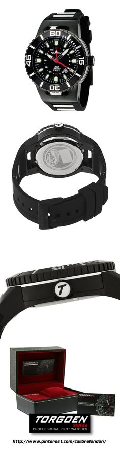 27373648a85 Torgoen Men s Analog Quartz Watch with Black Dial and Rubber Strap - T23305 From  Torgoen Price